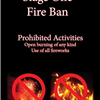 fire ban with fireworks