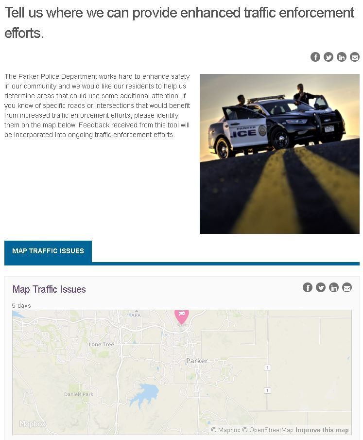 photo of our interactive traffic map