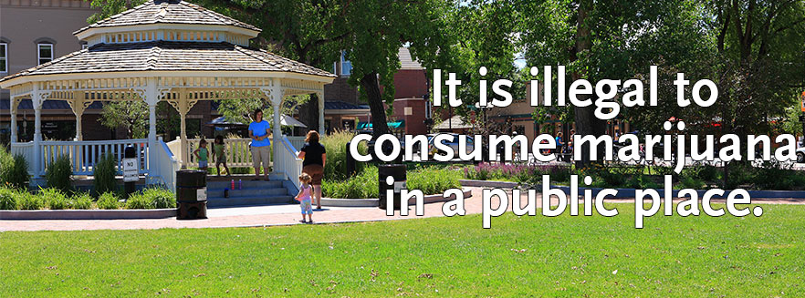 It is illegal to consume in public